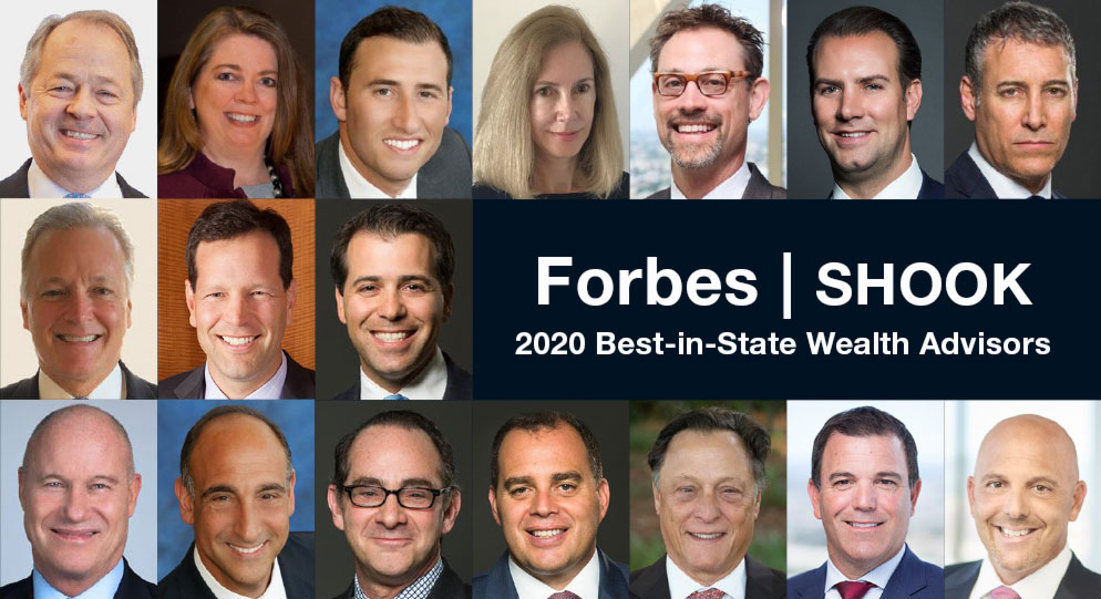 Meet our Forbes|SHOOK 2020 Best-In-State Wealth Advisors
