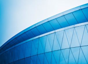 blue toned abstract architecture