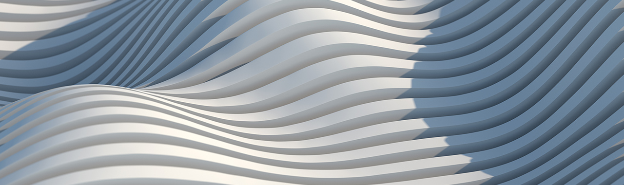 white abstruct curved structure