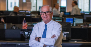 Bud Lowenthal CEO and Chairman on the trading floor
